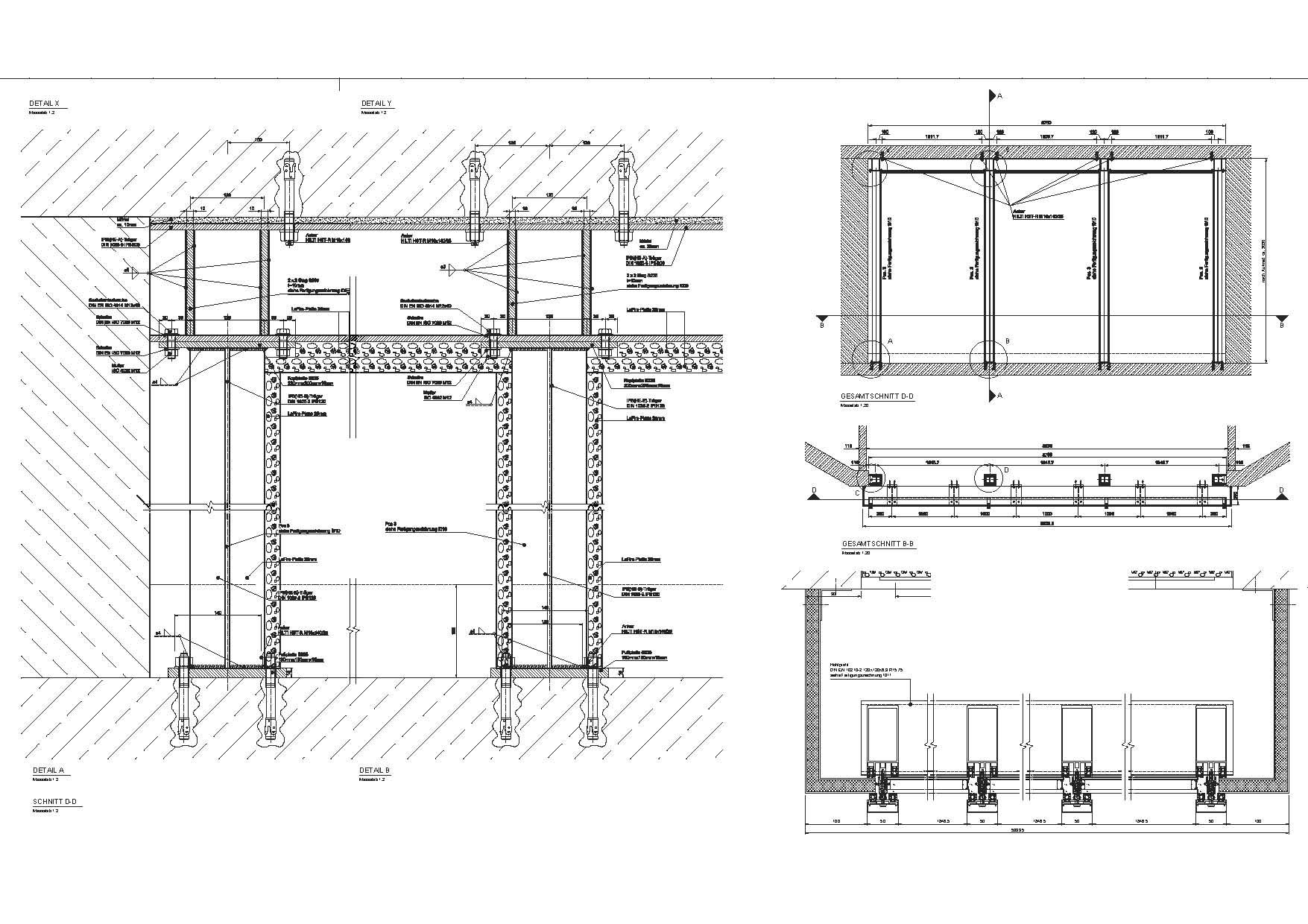 Stahlbau Werkplan Schaufenster Sudkessel